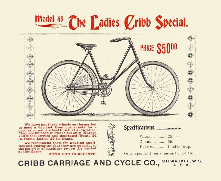 Bicycle BC4 - Framed Vintage Advertising Artwork from Interior Elements, Eagle WI