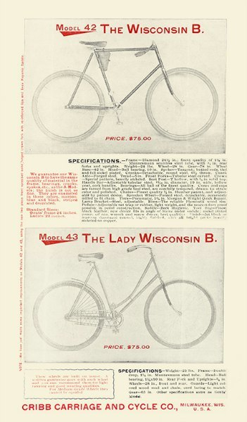 Bicycle BC6 - Framed Vintage Advertising Artwork from Interior Elements, Eagle WI