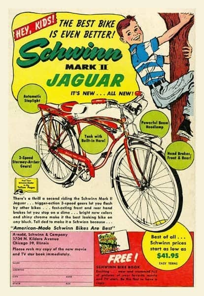 Schwinn Bicycle BS4 - Framed Vintage Advertising Artwork from Interior Elements, Eagle WI