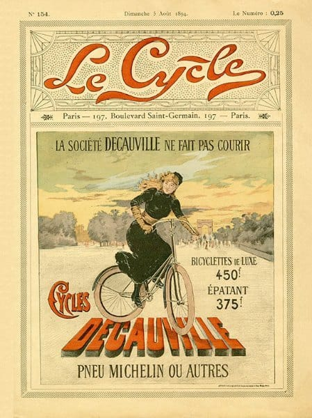 Bicycle French BLC1 - Framed Vintage Artwork from Interior Elements, Eagle WI