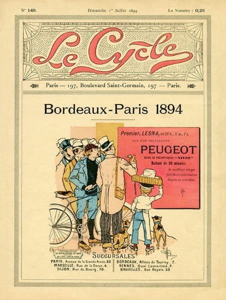 Bicycle French BLC2 - Framed Vintage Artwork from Interior Elements, Eagle WI