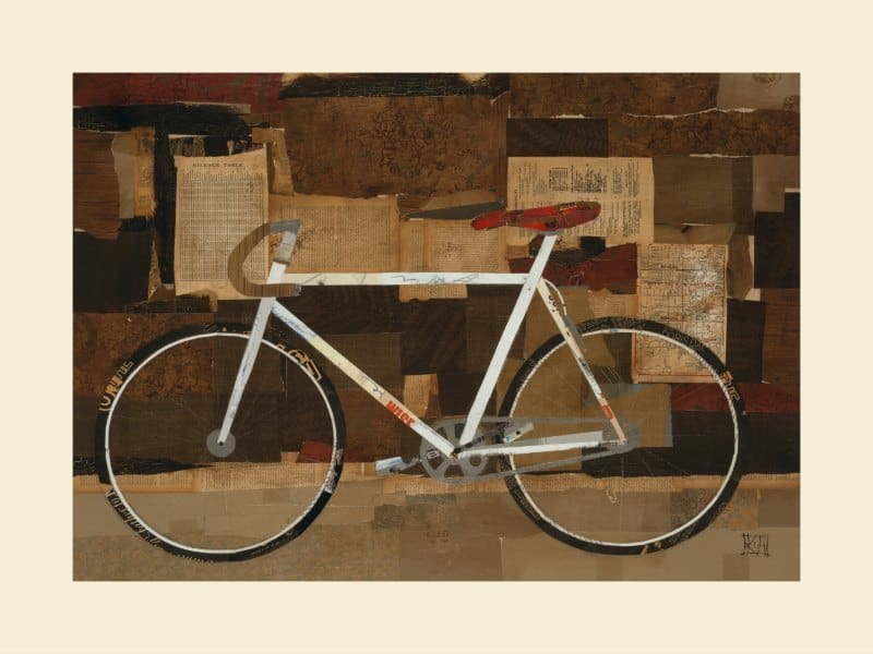 Bicycle SSB3 - Framed Vintage Artwork from Interior Elements, Eagle WI