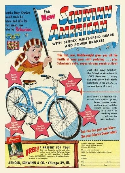 Bicycle Schwinn BS2 - Framed Vintage Advertising Artwork from Interior Elements, Eagle WI - Framed Vintage Artwork from Interior Elements, Eagle WI