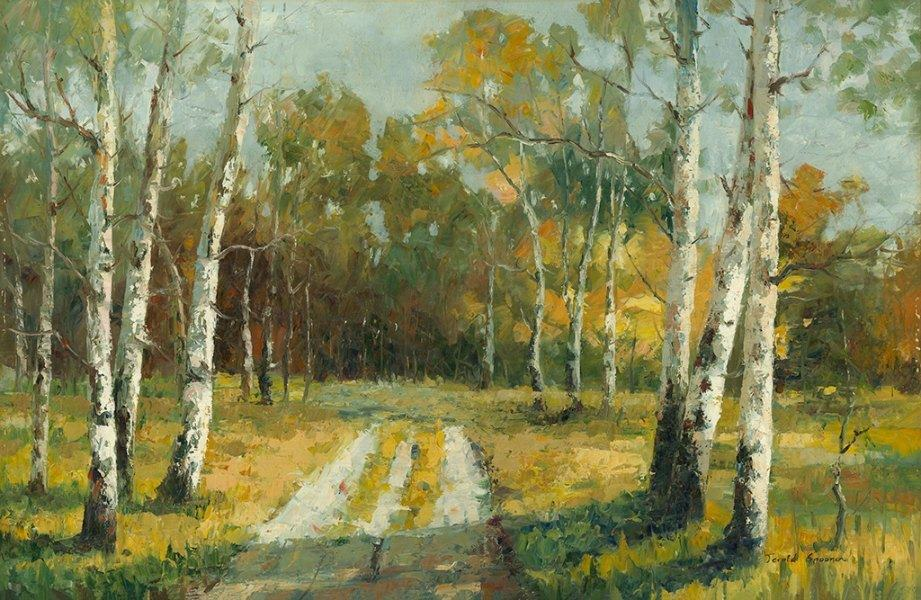 Birch Trees Trail OPBT - Framed Scenery Artwork from Interior Elements, Eagle WI