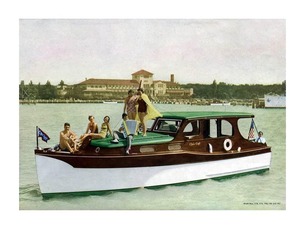 Boating Chris Craft 1937 BCCP10 - Framed Vintage Nautical & Boat Artwork from Interior Elements, Eagle WI