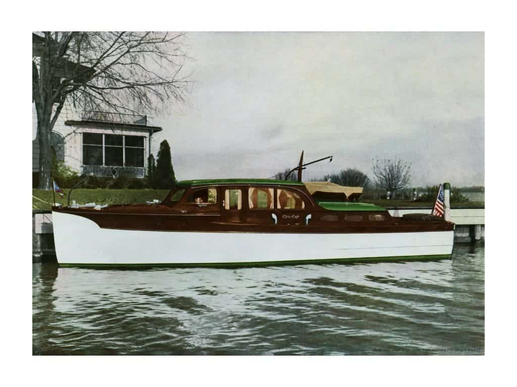 Boating Chris Craft 1937 BCCP2 - Framed Vintage Nautical & Boat Artwork from Interior Elements, Eagle WI