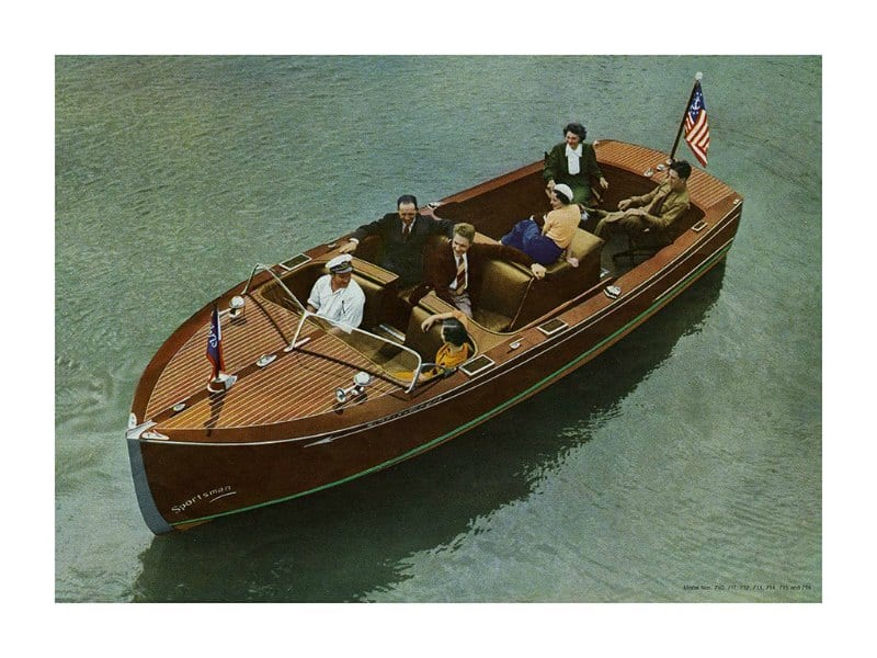 Boating Chris Craft 1937 BCCP4 - Framed Vintage Nautical & Boat Artwork from Interior Elements, Eagle WI