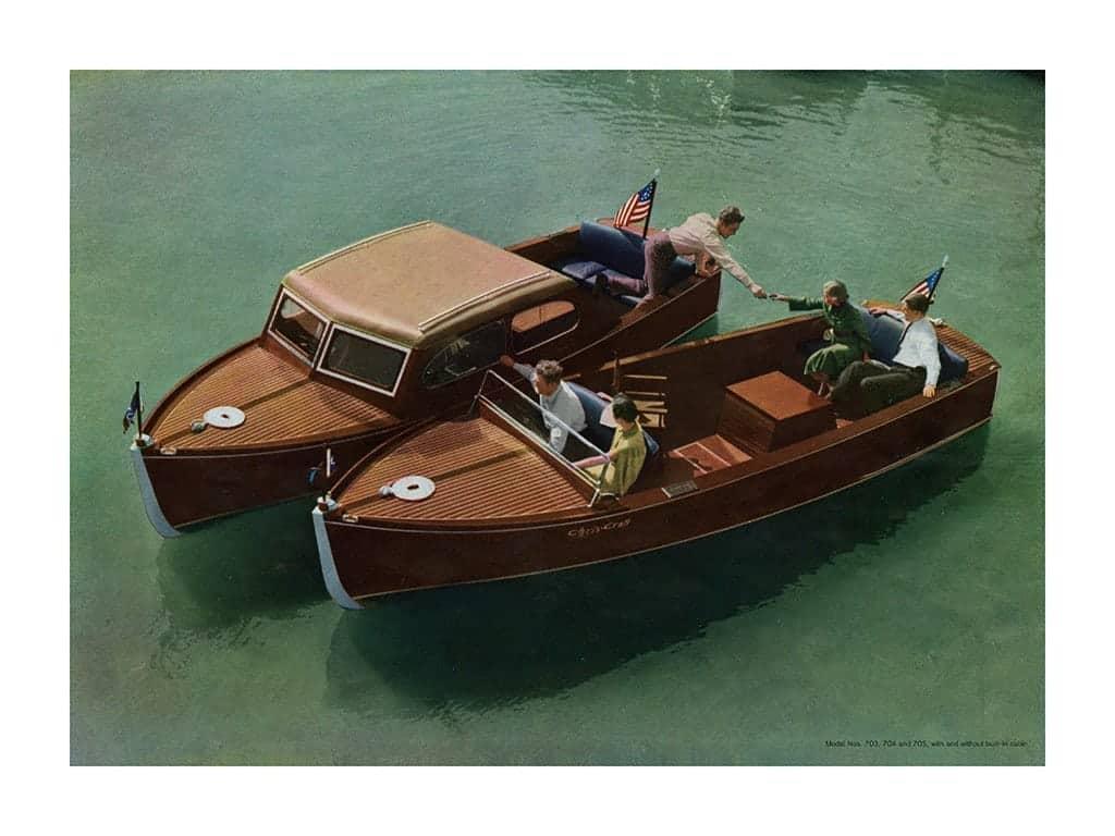 Boating Chris Craft 1937 BCCP6 - Framed Vintage Nautical & Boat Artwork from Interior Elements, Eagle WI