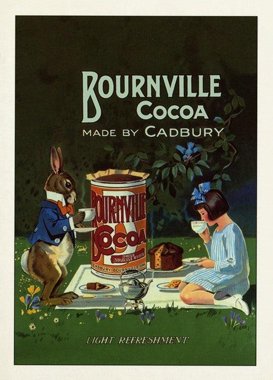 Bourneville Cocoa BFBC1 - Framed Vintage Artwork from Interior Elements, Eagle WI