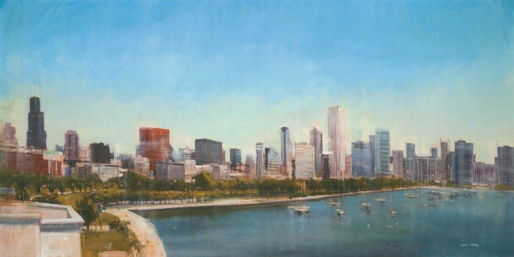 Chicago Skyline SSC - Framed Scenery Artwork from Interior Elements, Eagle WI