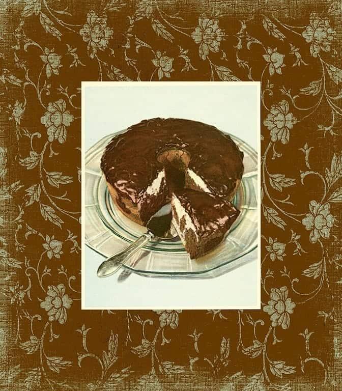 Chocolate Dessert BFC1 - Framed Vintage Artwork from Interior Elements, Eagle WI