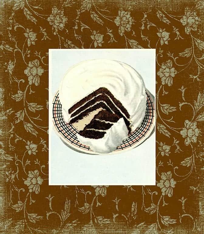 Chocolate Dessert BFC2 - Framed Vintage Artwork from Interior Elements, Eagle WI