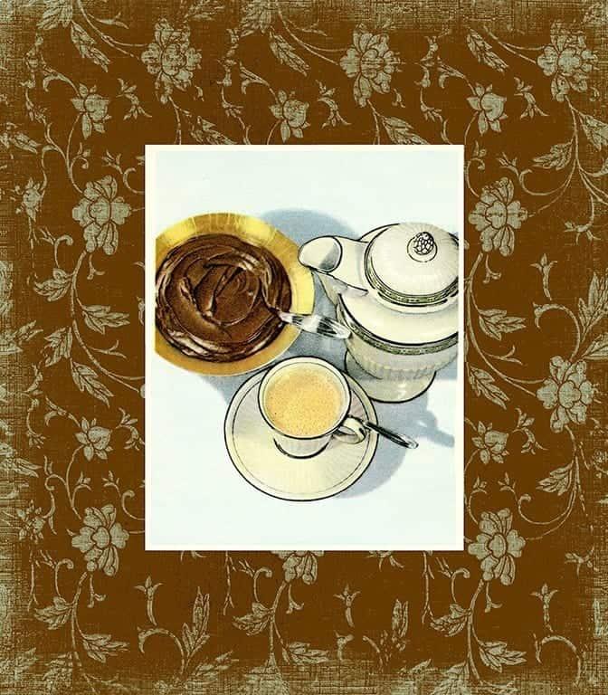 Chocolate Dessert BFC3 - Framed Vintage Artwork from Interior Elements, Eagle WI