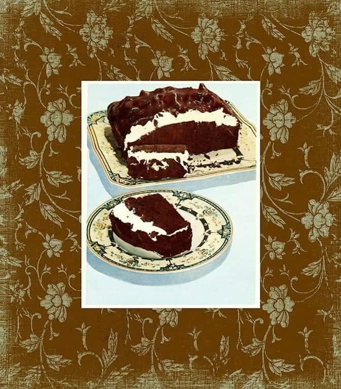 Chocolate Dessert BFC5 - Framed Vintage Artwork from Interior Elements, Eagle WI