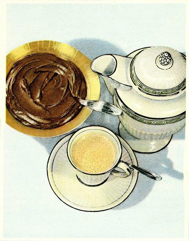 Chocolate Dessert BFCI3 - Framed Vintage Artwork from Interior Elements, Eagle WI