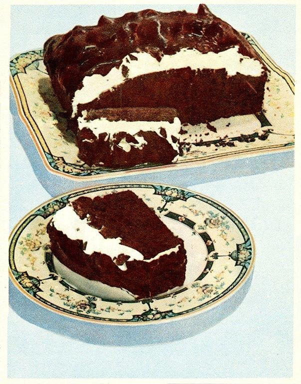 Chocolate Dessert BFCI5 - Framed Vintage Artwork from Interior Elements, Eagle WI