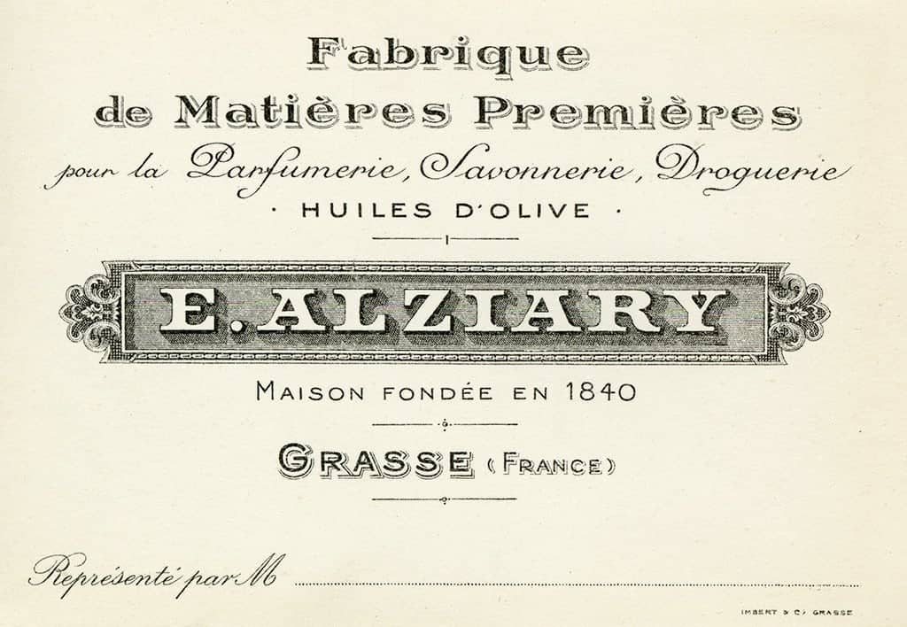 Cosmetic Label - E Alziary CL1 - Framed Vintage Artwork from Interior Elements, Eagle WI