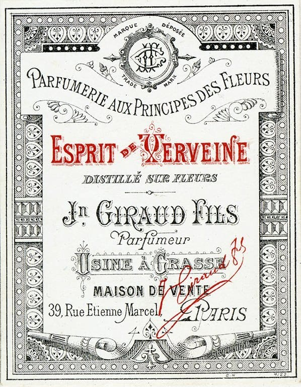 Cosmetic Label - Esprit de Xerveine CL2 - Framed Vintage Artwork from Interior Elements, Eagle WI