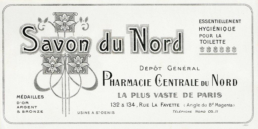Cosmetic Label - Savon du Nord CL6 - Framed Vintage Artwork from Interior Elements, Eagle WI
