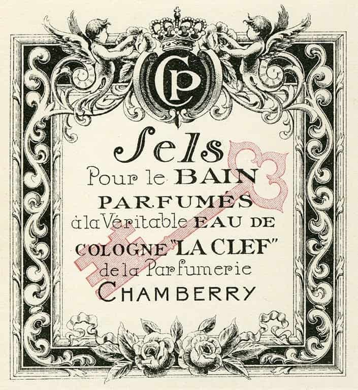 Cosmetic Label - Sels CL7 - Framed Vintage Artwork from Interior Elements, Eagle WI