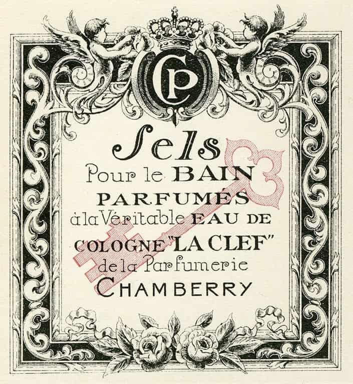 Cosmetic Label - Sels CL7 - Framed Vintage Artwork from Interior Elements, Eagle WI