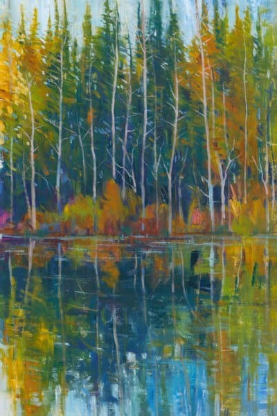 Fall Trees Reflection SSFR1 - Framed Scenery Artwork from Interior Elements, Eagle WI