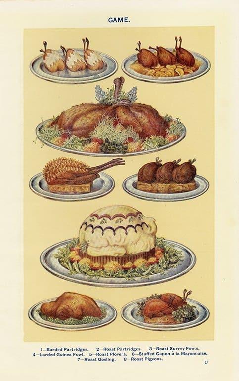 Food - Game BFG - Framed Vintage Artwork from Interior Elements, Eagle WI