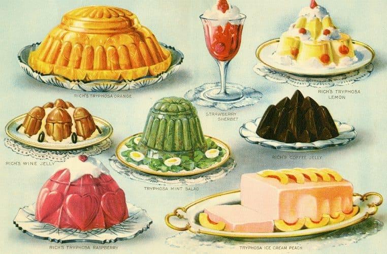 Food - Jello BFJ1 - Framed Vintage Artwork from Interior Elements, Eagle WI