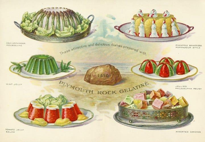 Food - Jello BFJ3 - Framed Vintage Artwork from Interior Elements, Eagle WI