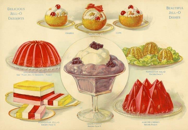 Food - Jello BFJ4 - Framed Vintage Artwork from Interior Elements, Eagle WI