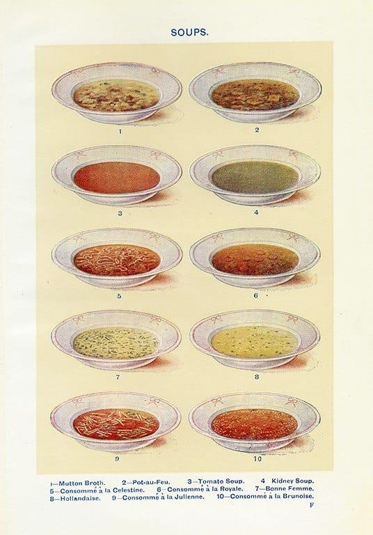 Food - Soups BFS2 - Framed Vintage Artwork from Interior Elements, Eagle WI