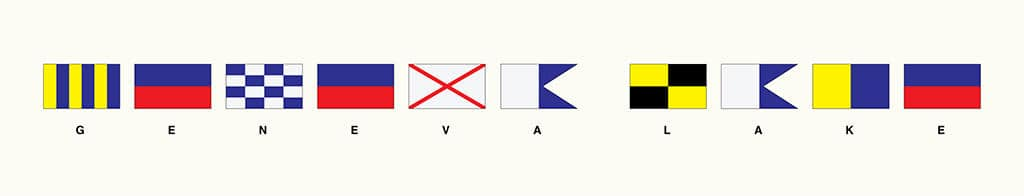 Geneva Lake Signal Flags LGSF - Framed Artwork from Interior Elements, Eagle WI