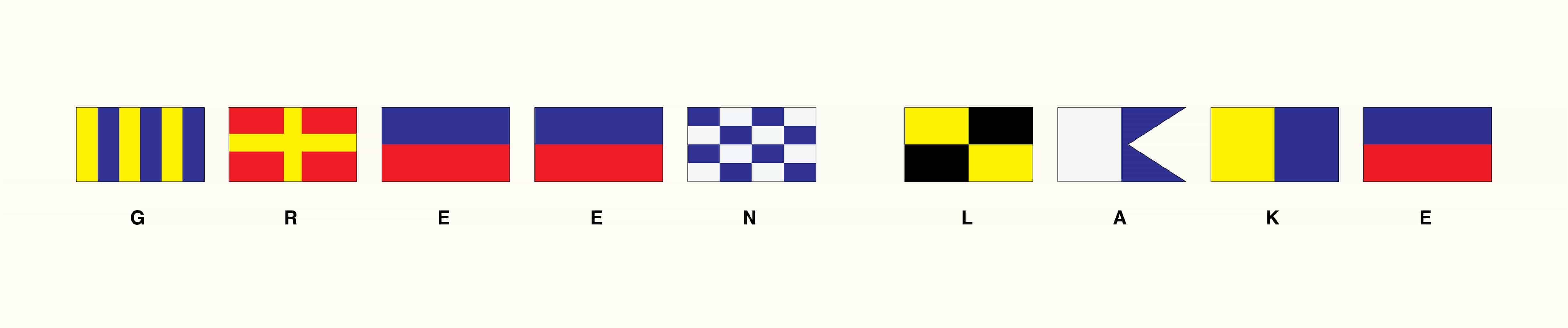 Green Lake Signal Flags GLSF - Framed Artwork from Interior Elements, Eagle WI