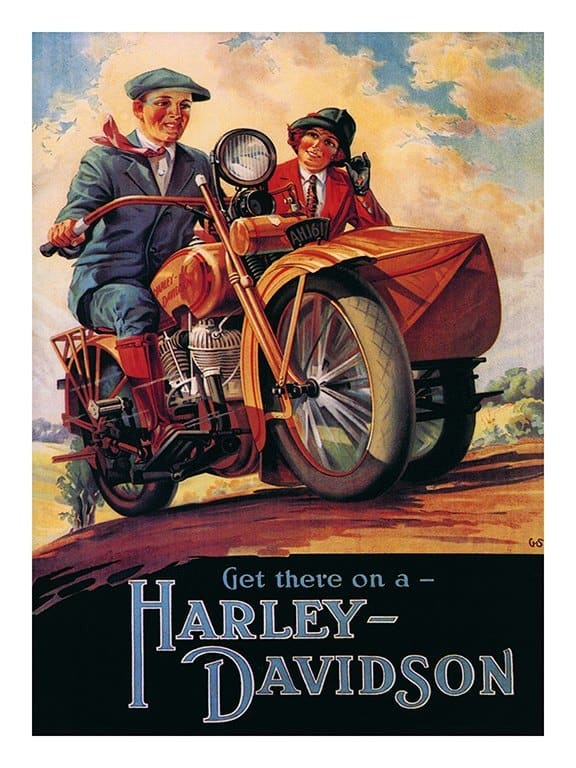 Harley Motorcycle HMA6 - Framed Vintage Advertising Artwork from Interior Elements, Eagle WI