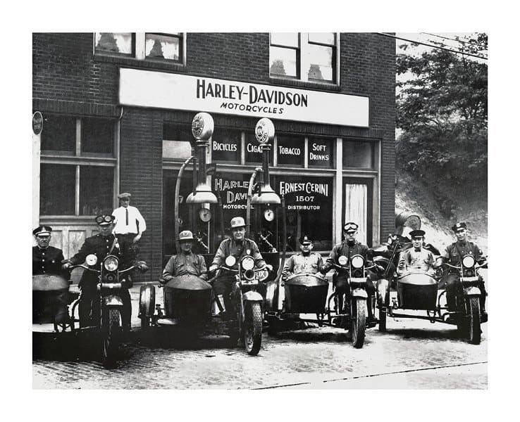 Harley Motorcycle Photo HMP7 - Framed Vintage Photography from Interior Elements, Eagle WI