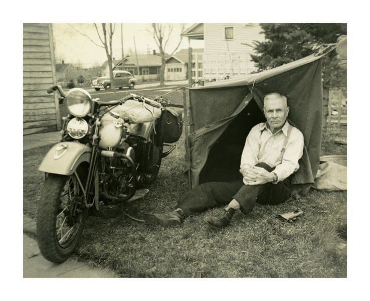 Harley Motorcycle Photo HMP9 - Framed Vintage Photography from Interior Elements, Eagle WI