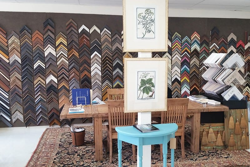Custom Framing of Artwork by Interior Elements in Eagle WI - Photo of Frame Room