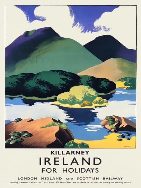 Ireland Kilarney EPKI - Framed Vintage Artwork from Interior Elements, Eagle WI