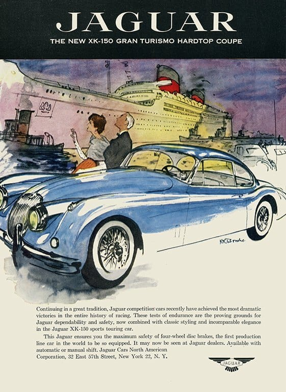 Jaguar Car Ad AutJ2 - Framed Vintage Artwork from Interior Elements, Eagle WI
