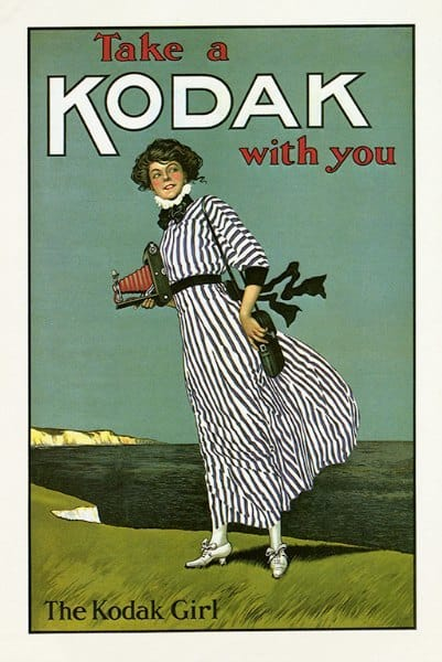 Kodak Girl EPKG - Framed Vintage Artwork from Interior Elements, Eagle WI