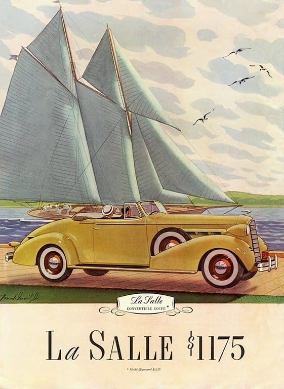 LaSalle Car Ad AutLS - Framed Vintage Artwork from Interior Elements, Eagle WI