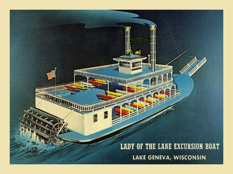 Lady of the Lake LGLL - Framed Artwork from Interior Elements, Eagle WI