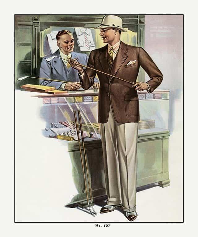 Mens Fashion FM1 - Framed Vintage Artwork from Interior Elements, Eagle WI