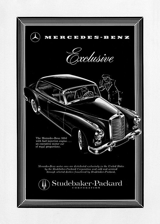 Mercedes Car Ad AutM6 - Framed Vintage Artwork from Interior Elements, Eagle WI