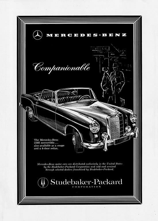 Mercedes Car Ad AutM7 - Framed Vintage Artwork from Interior Elements, Eagle WI