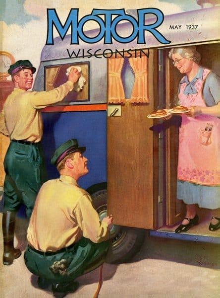 Wisconsin Motor WPMW - Framed Vintage Artwork from Interior Elements, Eagle WI
