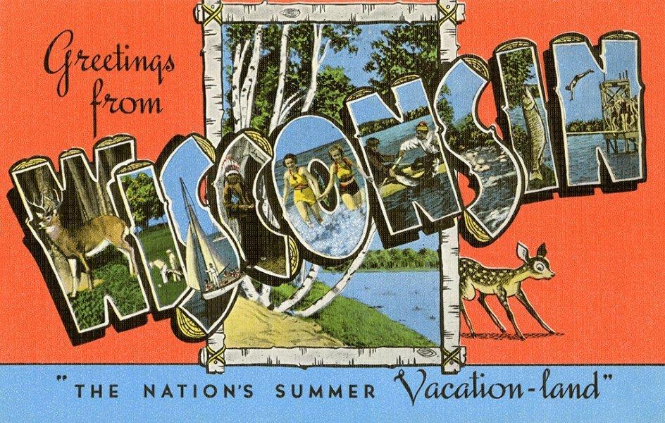 Wisconsin WWR - Framed Vintage Artwork from Interior Elements, Eagle WI