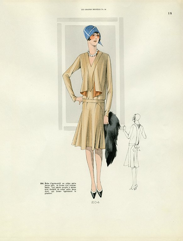Womens Fashion 1929 FW14 - Framed Vintage Artwork from Interior Elements, Eagle WI