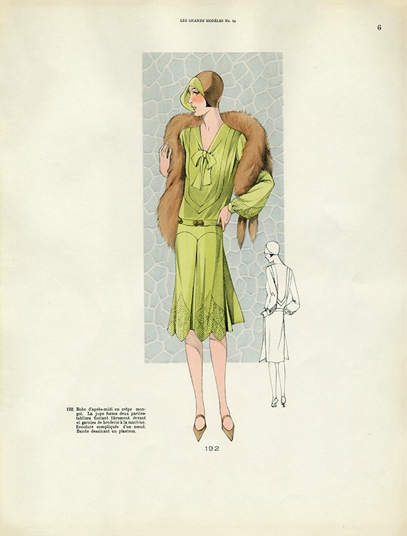 Womens Fashion 1929 FW2 - Framed Vintage Artwork from Interior Elements, Eagle WI