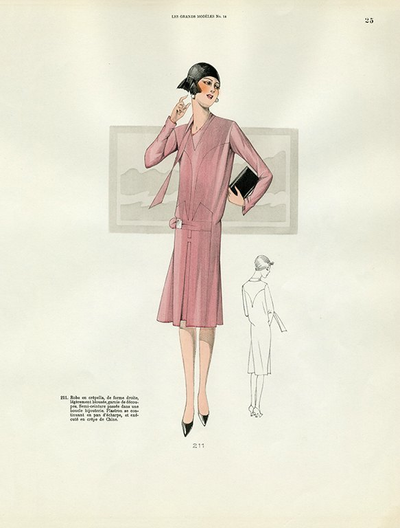Womens Fashion 1929 FW21 - Framed Vintage Artwork from Interior Elements, Eagle WI